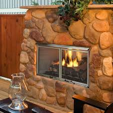 majestic villa gas outdoor fireplace