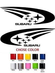2x Subaru Vinyl Decal Sticker Buy 2 Set Buy Online In Guernsey At Desertcart