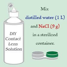 homemade contact lens solution recipe