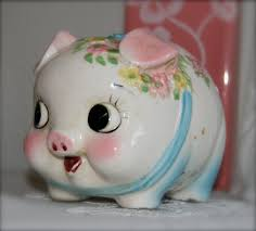 Re-Design a la Kiss Me Koko | Piggy bank, Piggy, Vintage knick knacks