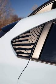 2018 Subaru Crosstrek American Flag Window Decal V2 Everything Vinyl Decal