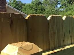 Building A 40 Privacy Fence Using Dog Eared Pine Pickets Youtube