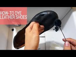 dye leather shoes to a diffe color