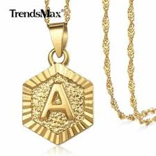 gold filled initial necklace letter a z