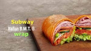 subway italian b m t calories