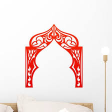 Red Indian Arch White Wall Decal Wallmonkeys Com
