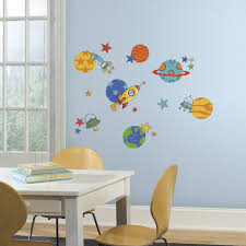 Planets And Rockets Peel And Stick Wall Decals Walldecals Com