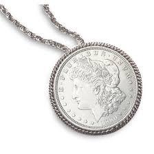 morgan silver dollar pin pendant
