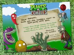 Plants Vs Zombies Party Invitation Digital Download Festa Zumbi