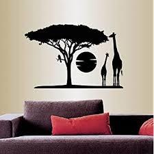Amazon Com Wall Vinyl Decal Home Decor Art Sticker Africa Savannah Giraffes Tree Wild Animal Safari Landscape Travel Removable Stylish Mural Unique Design For Any Room 353 Home Kitchen