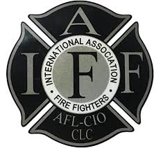 Amazon Com The 4 Reflective Black Iaff Union 3m Vinyl Firefighter Us Made Window Decal Everything Else