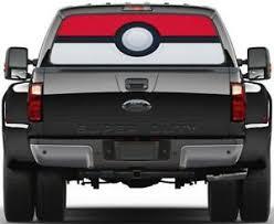 Pokemon Pokeball Rear Window Decal Graphic Sticker Car Truck Suv Van 508 Ebay