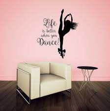 Zoomie Kids Hameldon Life Is Better When You Dance Personalized Wall Decal Wayfair