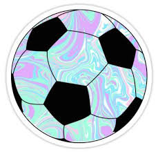 Blue Purple Soccer Ball Sticker Soccer Ball Soccer Hydroflask