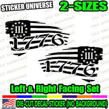 1776 Betsy Ross Left Right Set Distressed Flag Window Decal Bumper Sticker 228 Ebay