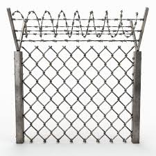 Barbed Wire Fence 3d Model 29 Obj Fbx Max Free3d