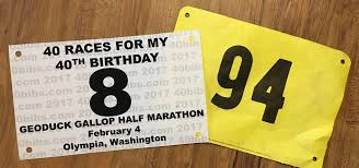 Bib #8 – Geoduck Gallop Half Marathon ...