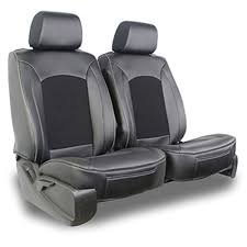 leatherette suede combo seat covers