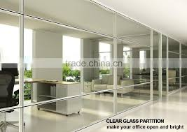 glass divider office partition wall