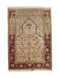 a hereke silk prayer rug turkey