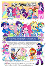 Kit Imprimible My Little Pony Equestria Girls