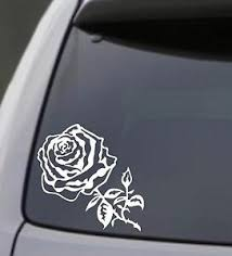 Rose Vinyl Decal Sticker Car Window Bumper Wall Laptop Flower Black Love Symbol Ebay