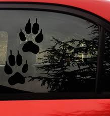 Amazon Com Wolf Pawprint Decal Sticker Actual Size Of Wolf Front Paw Footprints 2 Paw Prints Wolf Dog Bumper Window Sticker For Cars Trucks Wall Laptop Black Arts Crafts Sewing