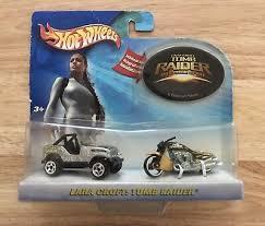 Tomb Raider Jeep Cj 7 Scorchin Scooter Car Motorcycle Hot Wheels Lara Croft