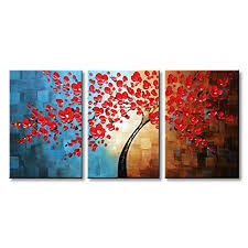 large horizontal wall painting com