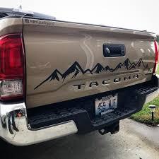 Tacoma Tailgate Mountain Decal Large Mountain Decal 4runner Etsy Mountain Decal Toyota Tacoma Accessories Tacoma Truck