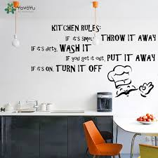 Yoyoyu Wall Decal Vinyl Art Home Decor Quote Kitchen Rules Dining Room Text Room Decoration Removebale Wall Sticker Yo524 Wall Sticker Kitchen Ruleswall Decals Aliexpress