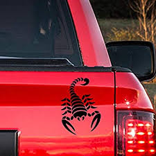 Amazon Com Scorpion Vinyl Sticker Black Car Bumper Window Sticker 10 X 7 Automotive