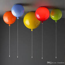 Colorful Balloon Ceiling Lamp Kids Room Children Nursery Kids Ceiling Lights Indoor Home Ceiling Wall Decor Balloon Lamp Fixture Brushed Nickel Pendant Lights Pendant Lamp Holder From Founders 80 77 Dhgate Com