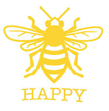 Custom Bee Happy Vinyl Decal Honey Bee Bumper Sticker For Tumblers Personalized Bee Gift Laptops Car