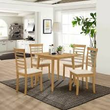 solid wooden drop leaf dining table