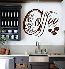 Large Vinyl Wall Decal Kitchen Coffee Shop House Cafe Dec Https Www Amazon Com Dp B01hbdbuos Ref C Vinyl Wall Decals Kitchen Kitchen Wall Decor Cafe Decor