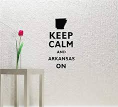 Amazon Com Keep Calm And Arkansas On 22x13 Inches Kcco Symbol Matte Black Vinyl Silhouette Keypad Track Pad Decal Window Wall Quotes Sayings Art Vinyl Decal Automotive