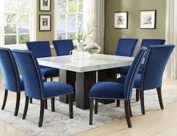 Steve Silver Cm540pt Camila Square Dining Room Set With Blue Chairs