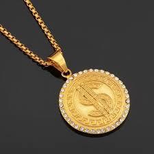 fashion uni necklace gold color lion