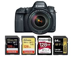 memory cards for canon eos 6d mark ii