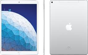 Apple iPad Air (Latest Model) with Wi-Fi + Cellular 256GB (Verizon) Silver  MV1F2LL/A - Best Buy
