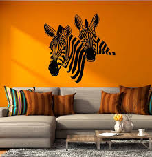Vinyl Wall Decal African Abstract Art Animal Zebra Wildlife Africa Sti Wallstickers4you