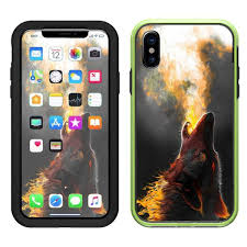 Skin Decal For Otterbox Defender Iphone 7 Plus Case Wolf Howling At Moon Consumer Electronics Audio Player Cases Covers Skins