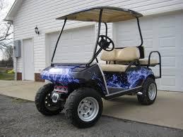 New Blue Flame Golf Car Wrap Body Skinz Including Roof Powersportswraps Com