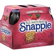 snapple tea raspberry gl bottles