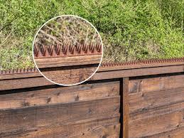 Fence Wall Spikes Prikkastrip Garden Security Intruder Bird Cat Repellent Burglar Anti Climb Colour Brown Pack Of 10 5m To 15m Amazon Co Uk Garden Outdoors