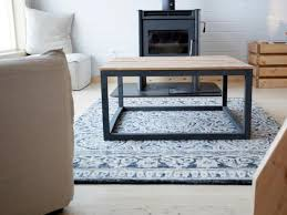 build a modern industrial coffee table