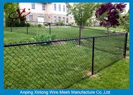 Black Galvanized Chain Link Fence Pvc Coated Welded Wire Fencing