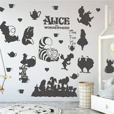 Removable Alice In Wonderland Cheshire Cat Wall Stickers Vinyl Decal Home Decor