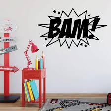 Bam Wall Decal Super Hero Vinyl Decor For Boys Bedroom Etsy